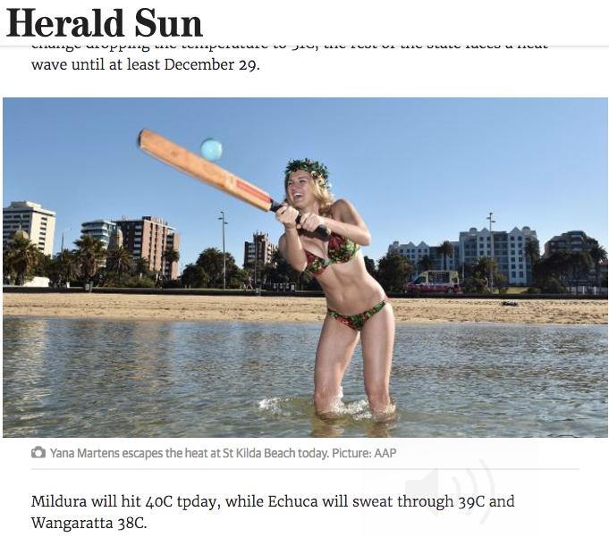 Yana Martens Herald Sun